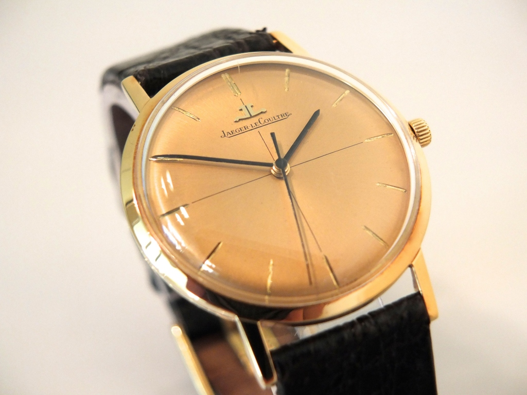 Jaeger lecoultre 18k 1963 sorry now sold vintage gold watches for Vintage gold watch