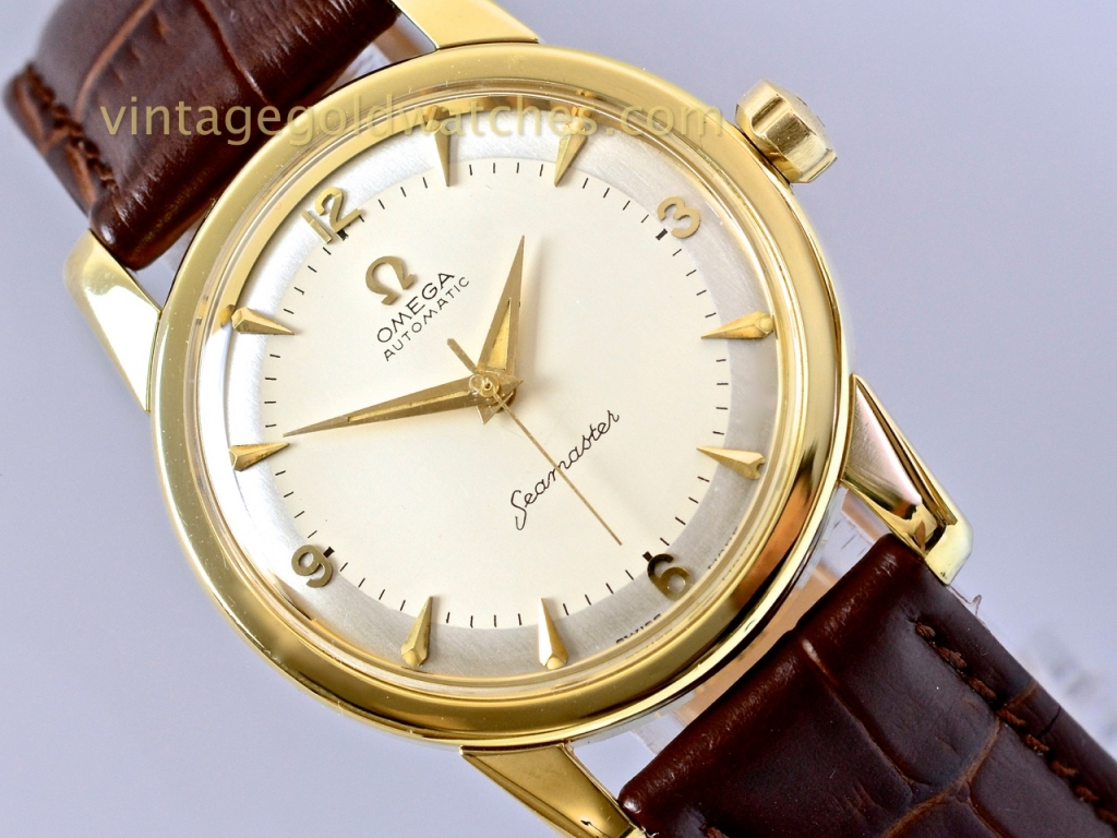 omega seamaster 14k two tone1958 sorry now sold 5th