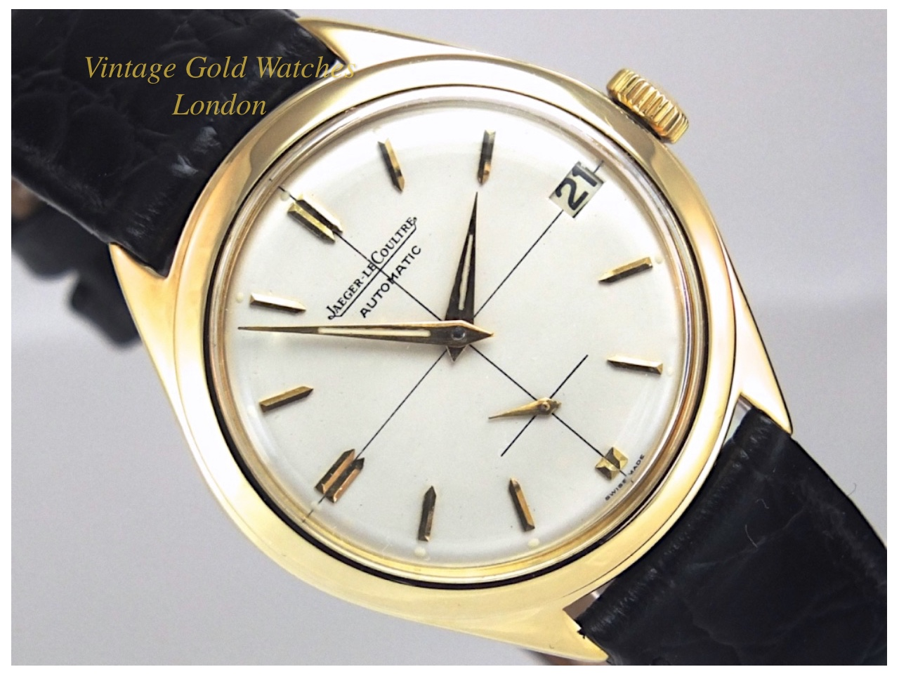 Jaeger lecoultre 18k automatic 1957 sorry now sold 12th sept 2016 vintage gold watches for Vintage gold watch