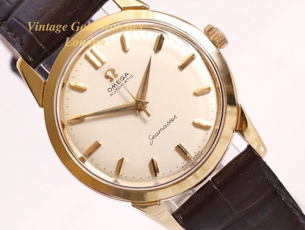 omega seamaster 18ct cal 591 1961 vintage gold watches