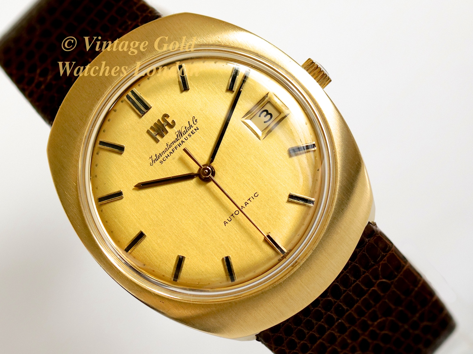 iwc automatic 18k 1973 vintage gold watches