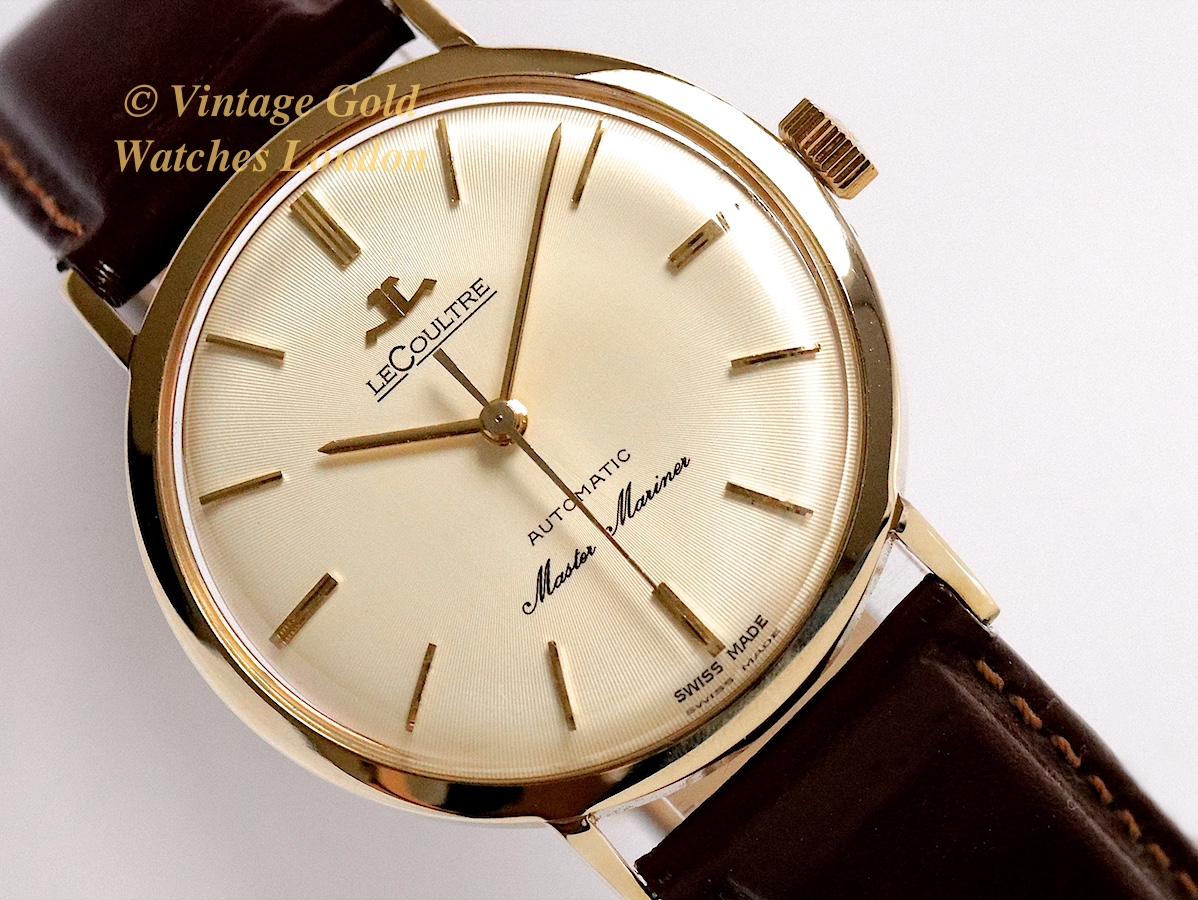Jaeger lecoultre master mariner 14ct 1962 vintage gold watches for Vintage gold watch