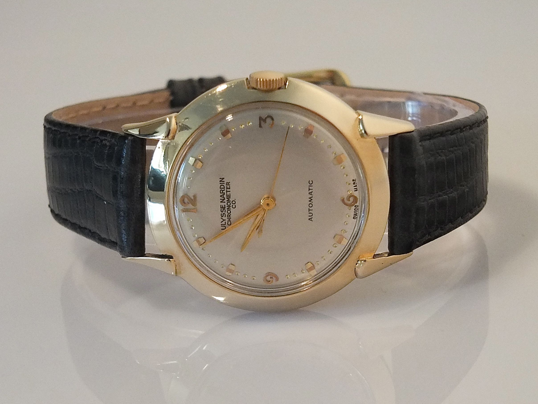 Ulysse Nardin 14k Automatic 1954 Vintage Gold Watches