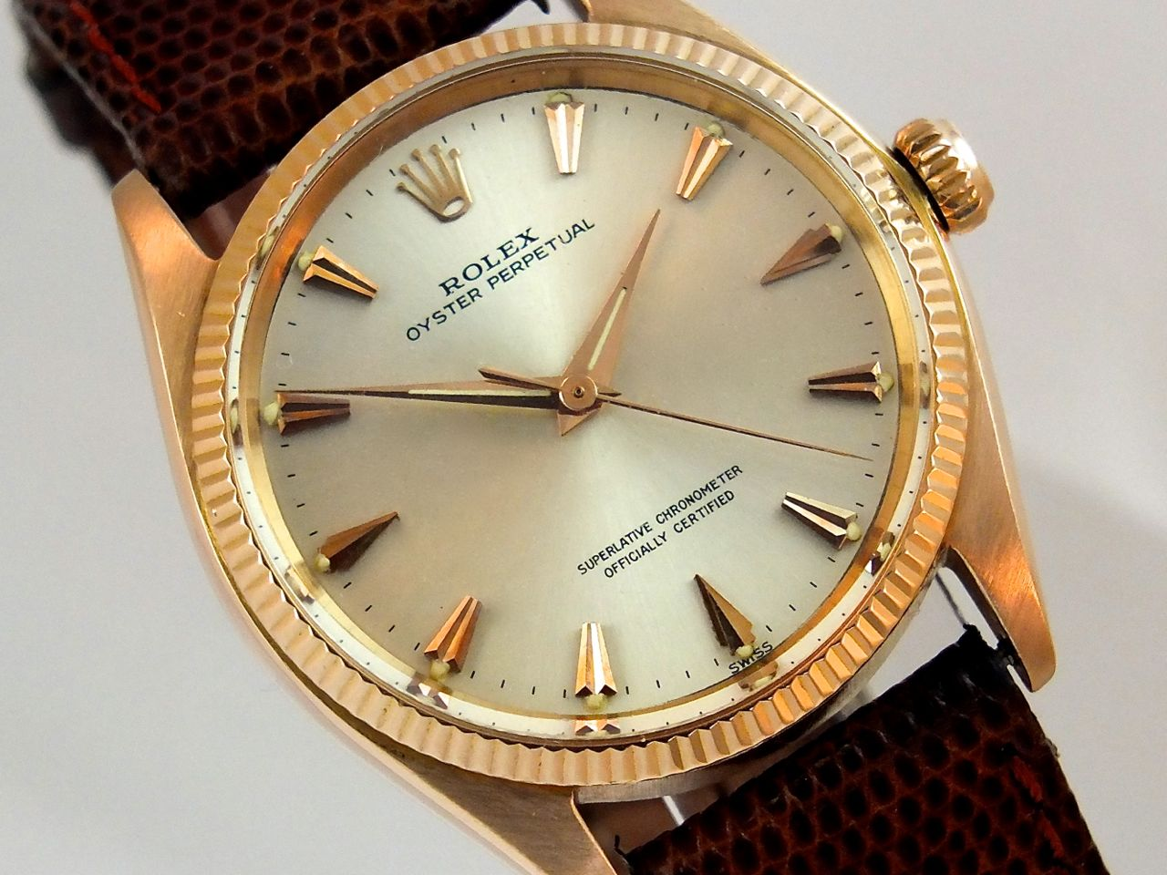 Home   Rolex   Rolex Oyster Perpetual 18K Pink 1953. « Back cb4c09396440