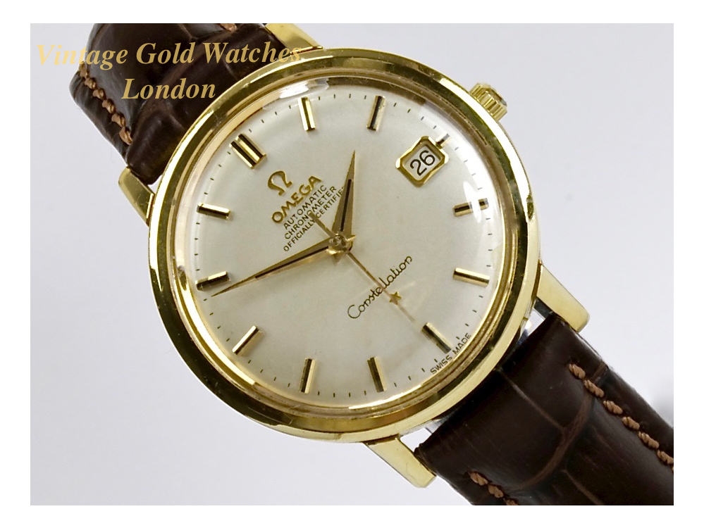 Omega constellation date 18k 1966 sorry now sold 9th nov 39 16 vintage gold watches for Omega watch vintage
