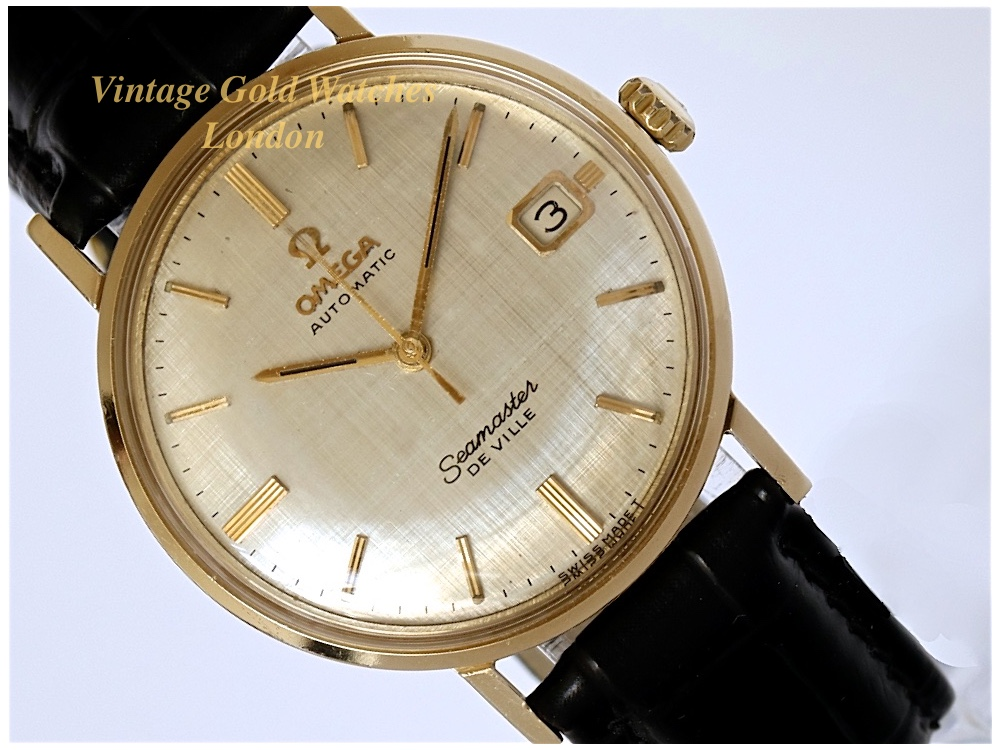 Omega seamaster deville 18k 1957 sorry now sold 5th april 39 17 vintage gold watches for Vintage gold watch