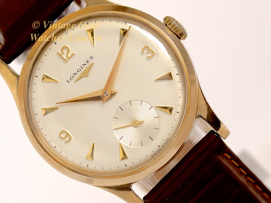 Longines 9ct Explorer 1950 Immaculate Vintage Gold