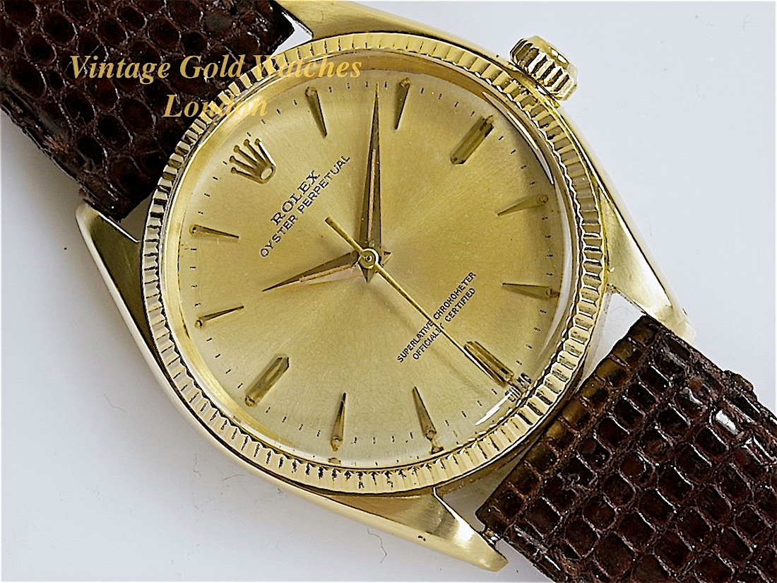 Rolex Oyster Perpetual 18K 1957 (Original Unrestored Dial ...