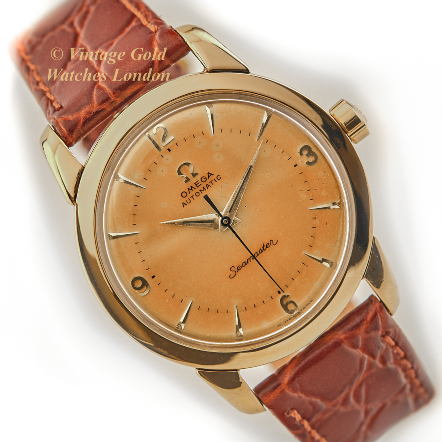 Omega Seamaster Cal.505 18ct, 1958 'Tropical' Dial